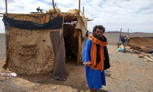 Zdjęcie MAROKO / Sahara / Erg Chebbi / Obozowisko Nomadów na Saharze w okolicy Merzouga