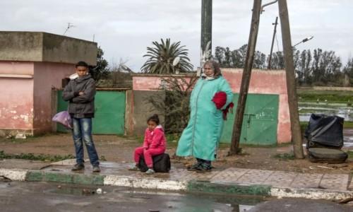 Zdjecie MAROKO / Kenitra / gdzieś po drodze / Na przystanku