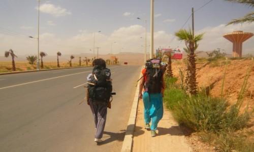 Zdjecie MAROKO / -Ouarzazate / Ouarzazate / Autostopem przez Maroko
