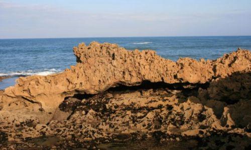 Zdjecie MAROKO / wybrzeże Maroka / przed Es-Sawirą / skaliste wybrzeże atlantyckie