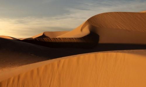 Zdjecie MAROKO / Sahara Zachodnia / gdzieś w piaskach pustyni / Piaskowe cienie