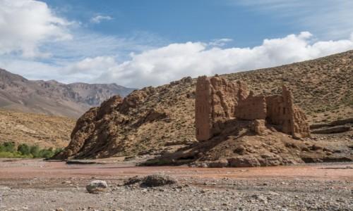 MAROKO / prowincja Ouarzazat / Atlas Wysoki / berberyjska twierdza