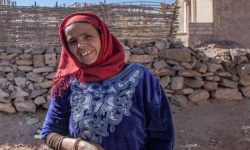 MAROKO / Souss-Massa / wioska / Wąwóz Tislit