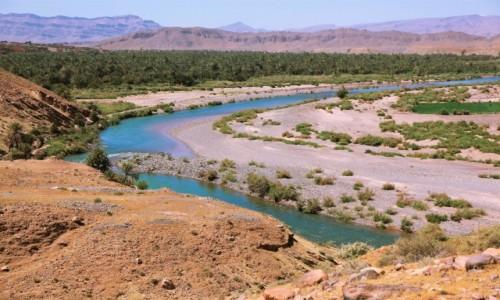 MAROKO / Ouarzazate / Wodi Dara / Rzeka