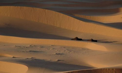 Zdjecie MAROKO / merzouga / pustynia / namioty na pustyni