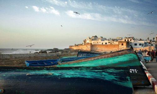 Zdjecie MAROKO / nad oceanem / Essaouira / panorama miasta