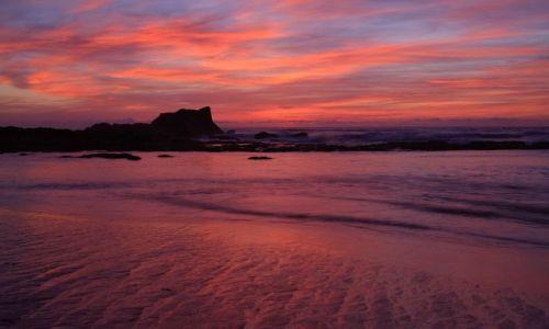 Zdjęcie MAROKO / brak / Oualidia  / Oualidia o zachodzie słońca