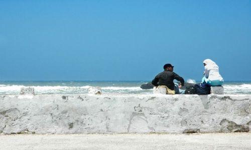 Zdjęcie MAROKO / nad Oceanem / Essauira / para