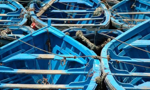 Zdjęcie MAROKO / nad Oceanem / Essauira / łódki