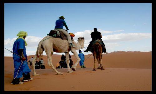 Zdjecie MAROKO / sahara / sahara / w glab pustyni.