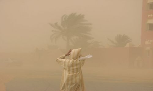 Zdjęcie MAROKO / Tiznit / w drodze na desert / Burza piaskowa