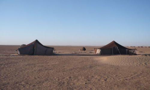 Zdjęcie MAROKO / Desert / pośród piasków / Domki na pustyni