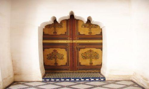 Zdjecie MAROKO / Meknes / gdzieś pośród domów / Po prostu lubie drzwi