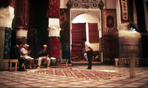 Zdjecie MAROKO / centrum / Fez- medina / dywany