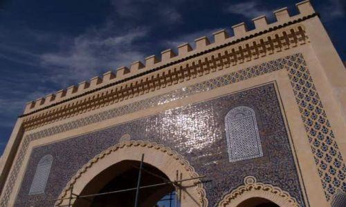 Zdjecie MAROKO / brak / Fez / Kawałek pięknej bramy w Fez