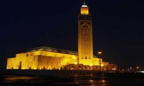 Zdjęcie MAROKO / brak / Casablanca / Meczet Hassana II nocą