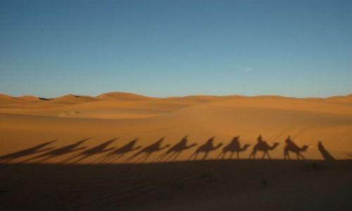 Zdjecie MAROKO / brak / Erg Chebbi / szła przez pustynię....