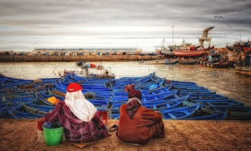 Zdjęcie MAROKO / brak / Essaouira / w oczekiwaniu na rybaków