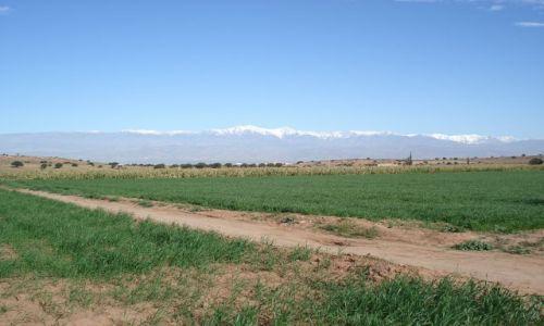 Zdjecie MAROKO / Warzazate / na trasie Agadir-Warzazate / Panorama Atlasu Wysokiego