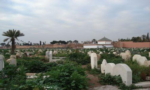Zdjecie MAROKO / Marakesz / Marakesz / Muzułmański cmentarz (Afryka Północna)