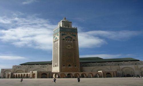 MAROKO / Wybrzeże Południowo - Zachodnie / Casablanka / Meczet Hassana II