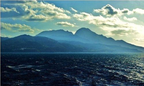 MAROKO / Ciesnina Gibraltarska / z promu: Algeciras-Ceuta / Z podróży promem