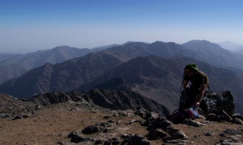 Zdjecie MAROKO / Atlas Wysoki / Jebel Toubkal / Na szczycie Jebel Toubkal