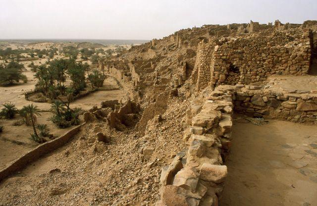Zdjęcia: Ouadane, Ruiny starego Ouadane, MAURETANIA