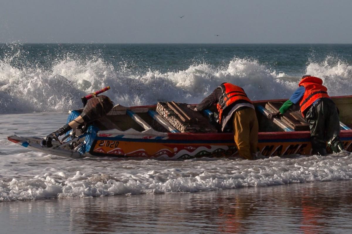Zdjęcia: port rybacki, Nawakszut, Przy pracy, MAURETANIA