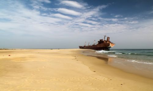 Zdjęcie MAURETANIA / Nouadhibou / rezerwat Cap Blanc / KONKURS Wrak