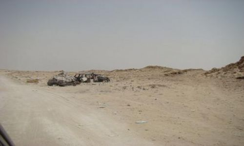 Zdjecie MAURETANIA / granica z Saharą Zachodnią / pas graniczny / Pas graniczny