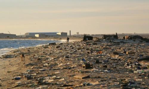 MAURETANIA / Nouadhibou / Cmentarzysko statków / Śmieciowisko przy wrakowisku