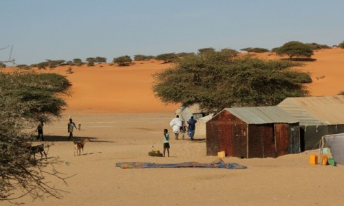 Zdjecie MAURETANIA / * / mauretańska wioska / Mauretania.Wioska