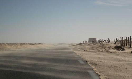 Zdjęcie MAURETANIA /  Dachlat Nawazibu /  gdzieś w trasie / Mauretania, wieje piaskiem