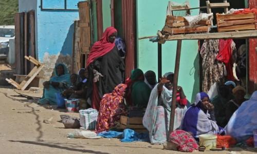 Zdjęcie MAURETANIA / Delta rzeki Senegal / Park Narodowy Diawling. / Przed sklepem