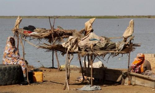 MAURETANIA / Delta rzeki Senegal /  Diawling / Punkt suszenia ryb