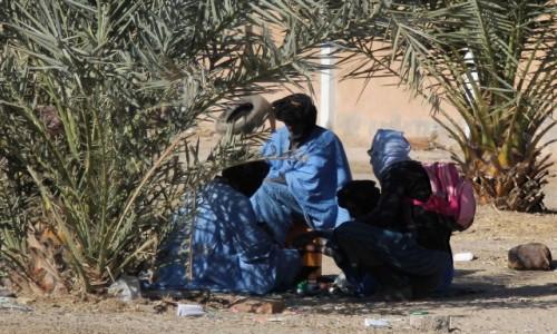 Zdjecie MAURETANIA / Mauretania / gdzieś po drodze / Herbata pod palmami