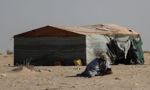 Zdjecie MAURETANIA /  Dakhlet Nouadhibou / Nouamghar  / Architektura mauretańskiej wioski