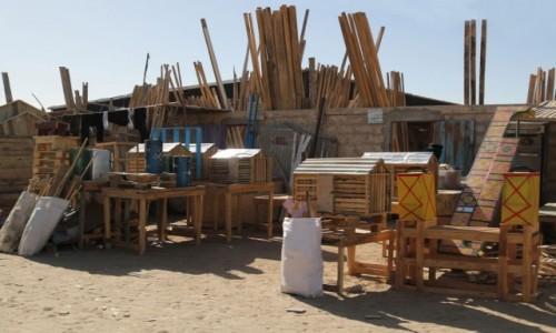 Zdjęcie MAURETANIA / Nawakszut / dzielnica handlowa / Producenci sprzętów drewnianych