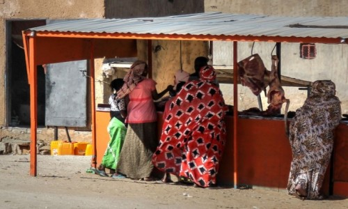 Zdjecie MAURETANIA / Nouakchott / gdzieś po drodze / Dziewczyny