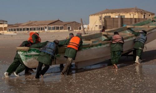 MAURETANIA / Nawakszut / port rybacki / Przy pracy