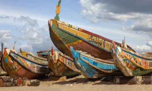 Zdjecie MAURETANIA / Nawakszut / port rybacki / Portowe kolory