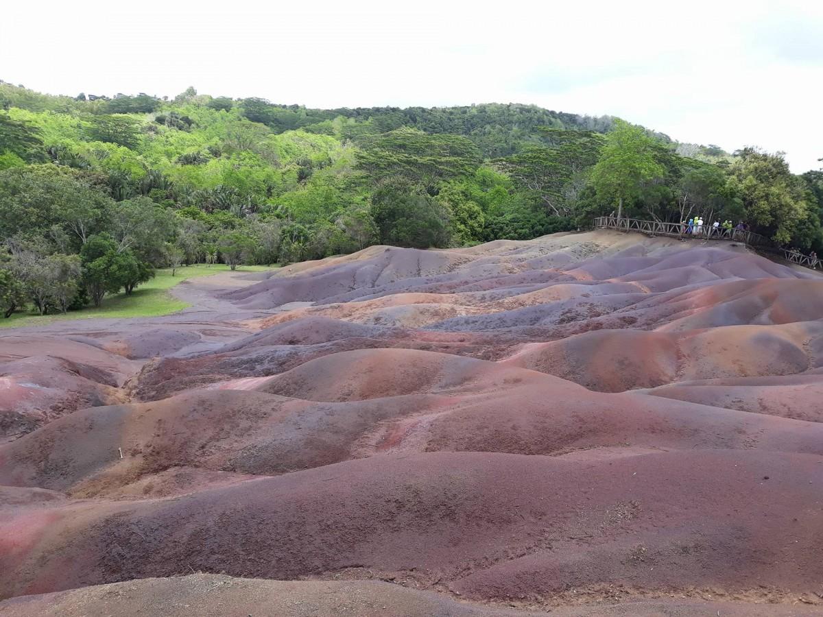 Zdjęcia: krajobraz w Parku Narodowym Chamarel, centrum wyspy, Ziemia Siedmiu Kolorów Chamarel -Park Narodowy, MAURITIUS