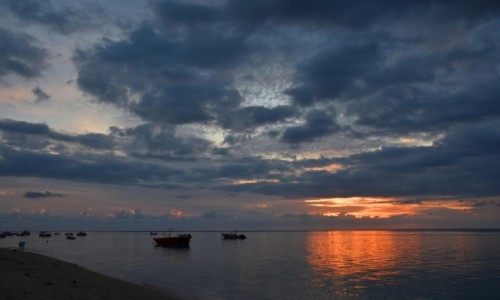 Zdjecie MAURITIUS / zachodnie wybrzeże / Le Morne Brabant / Pochmurny wiecz