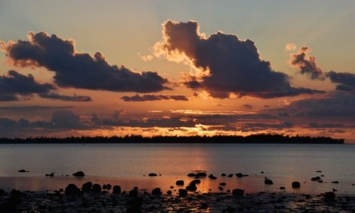 Zdjecie MAURITIUS / zachodnie wybrzeże / Gdzieś po drodze / Zachód słońca na zachodnim wybrzeżu