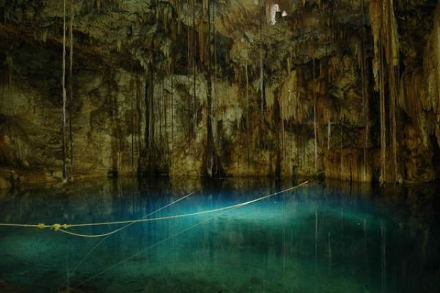 Zdjęcia:  Cenote Dzitnup , Yucatan,  Cenote Dzitnup , MEKSYK