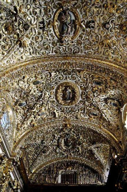 Zdjęcia: Kościół San Francisco, kaplica ROSARIO, Puebla, MEKSYK