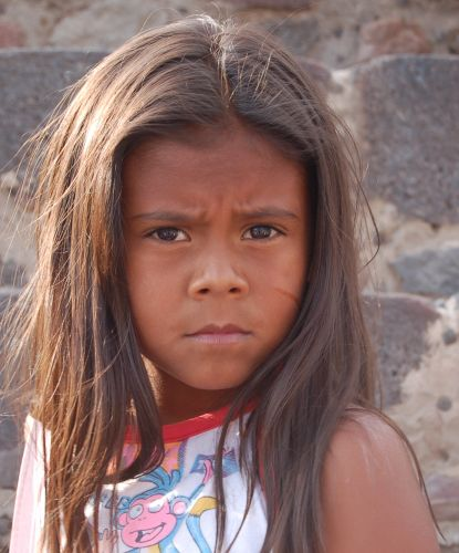 Zdjęcia: Teotihuacan, Okolice Mexico City, Portret na schodach piramidy, MEKSYK