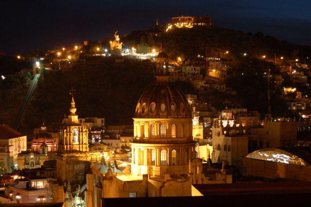 Zdjęcia: Guanajuato, Panorama Guanajuato nocą, MEKSYK