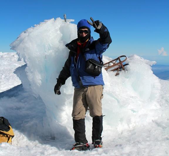 Zdjęcia: Pico de Orizabe, Pico de Orizabe, Ed Bochnak na szczycie Orizaba, MEKSYK